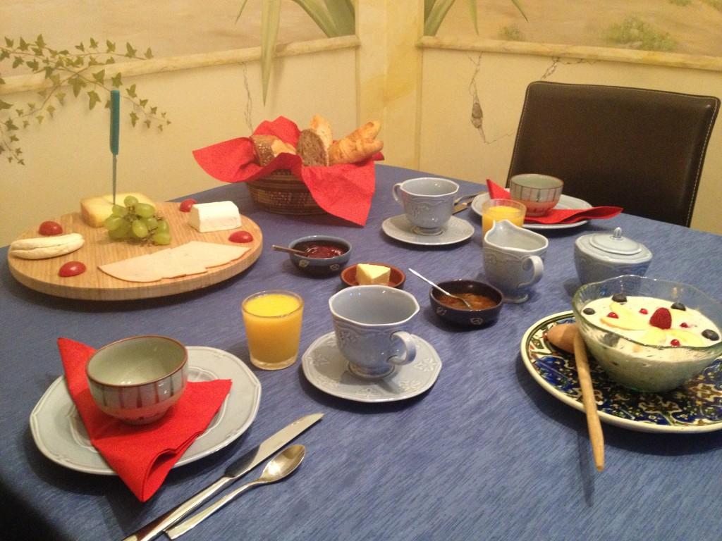 swiss breakfast at bnb lausanne