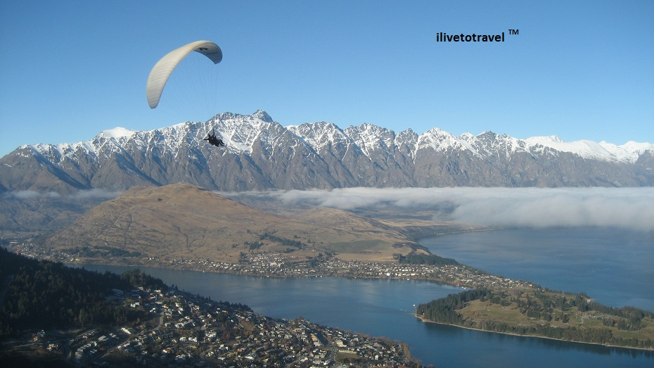 The Remarkables and glider