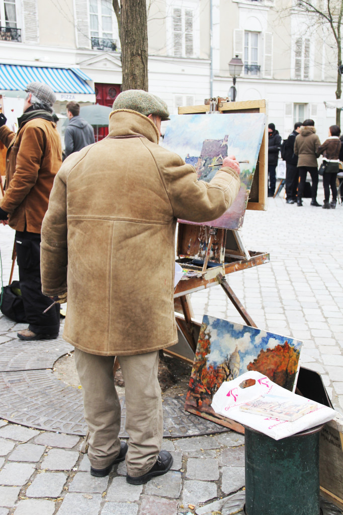 painter in montmartre
