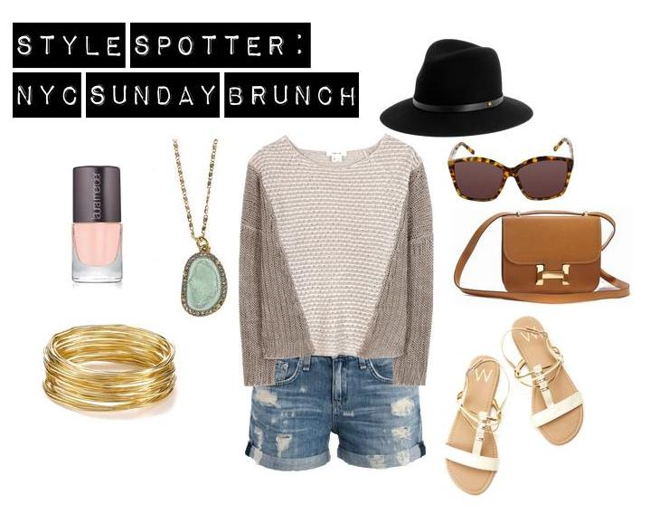 style spotter: nyc sunday brunch