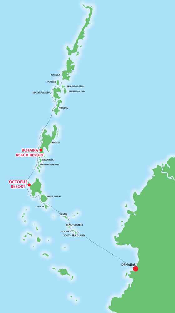 map of the yasawa islands
