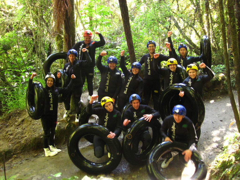 waitomo cave group ... someone in this photo peed.