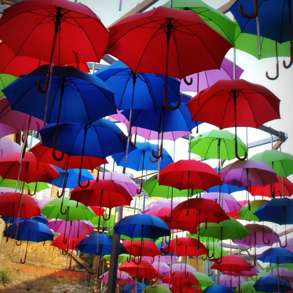 umbrellas in london