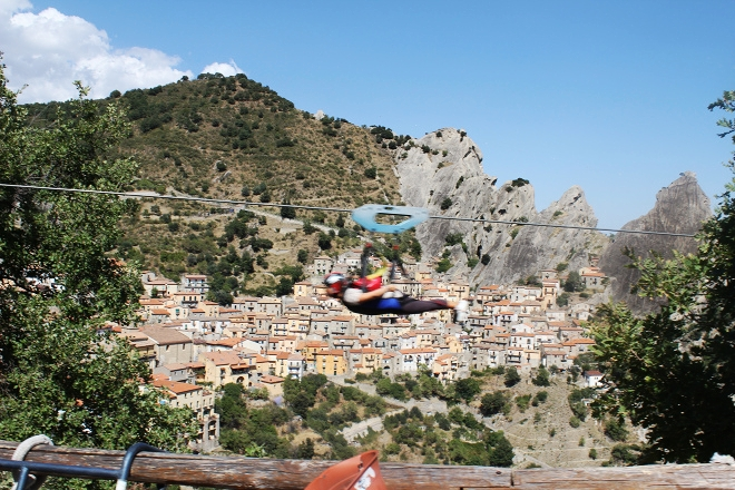 Crazy Italian zipline