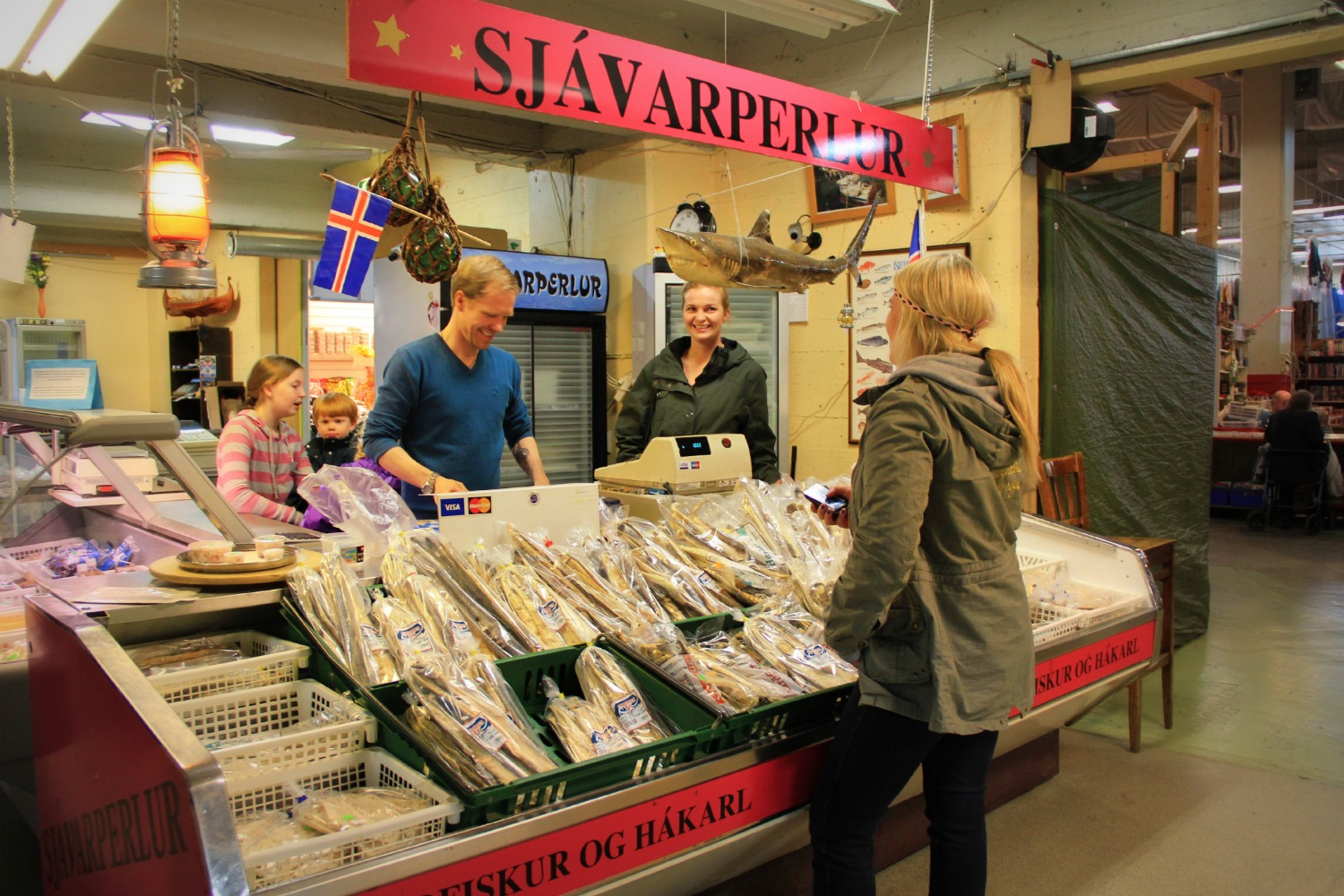 Hall reykjavik our intro to iceland the lazy travelers for Fish market iceland