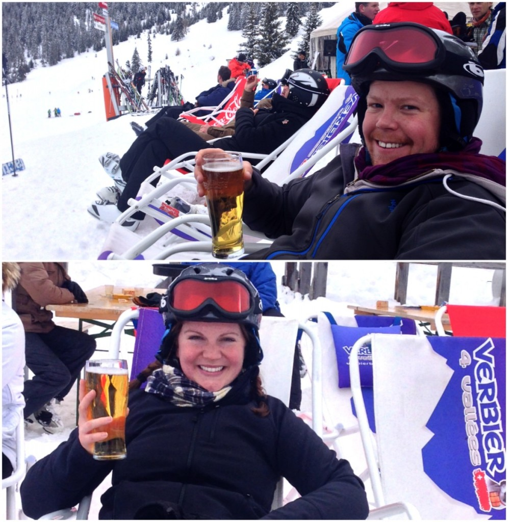 beers on the slopes