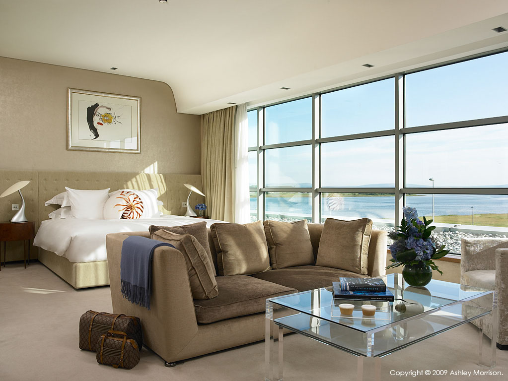 Luxury Suite Bedroom at the g Hotel in Galway.