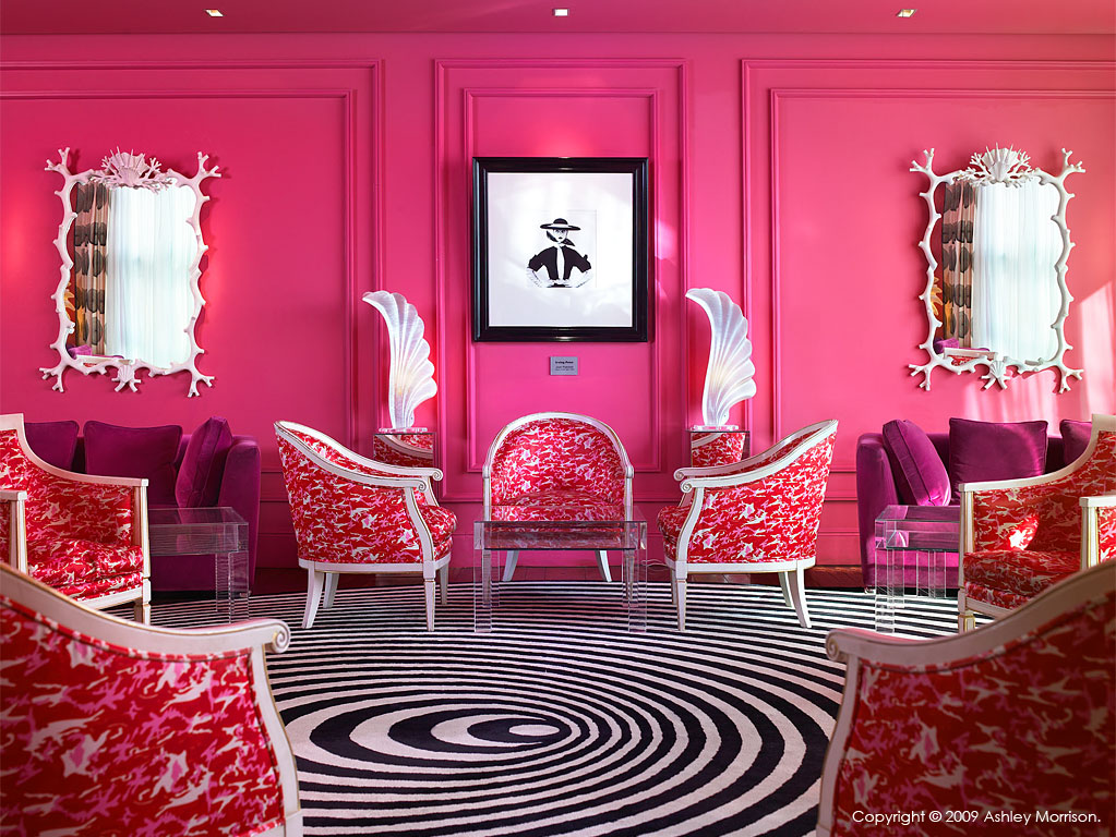 The Pink Salon at The g hotel in Galway.