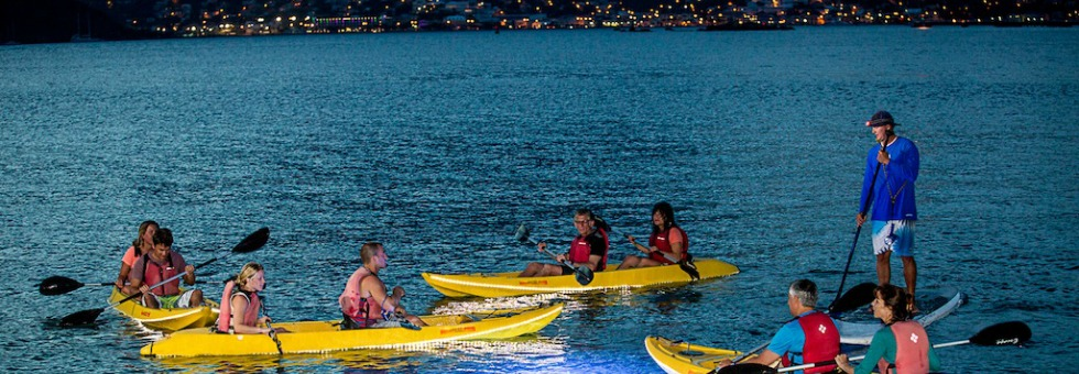 for the decidedly un-lazy traveler: night kayaking in st. thomas