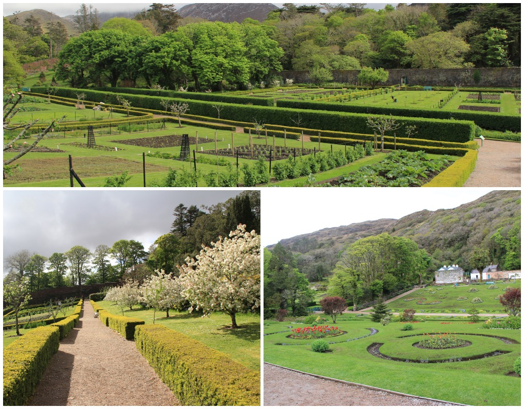 kylemore - walled garden