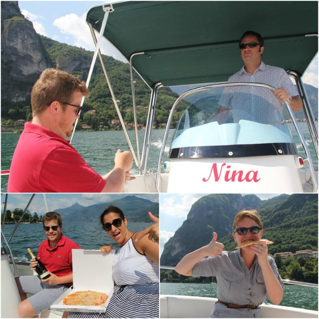 We're on a boat - Como