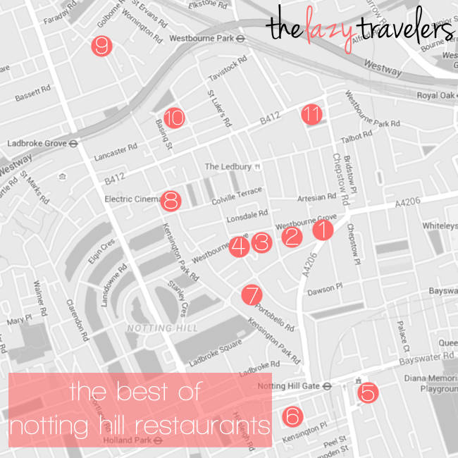 the lazy travelers - the best of notting hill restaurants