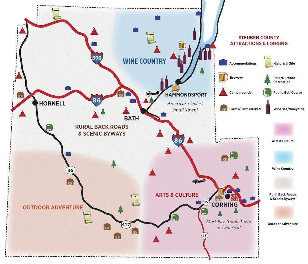 Steuben County Map