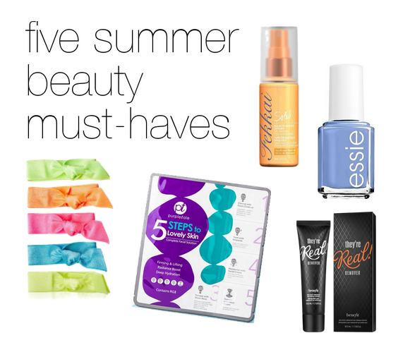summer beauty for lazy travelers