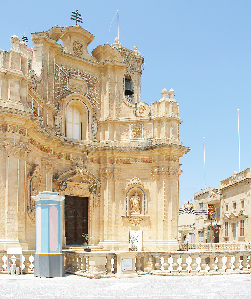 postcards from malta - gharb cathedral