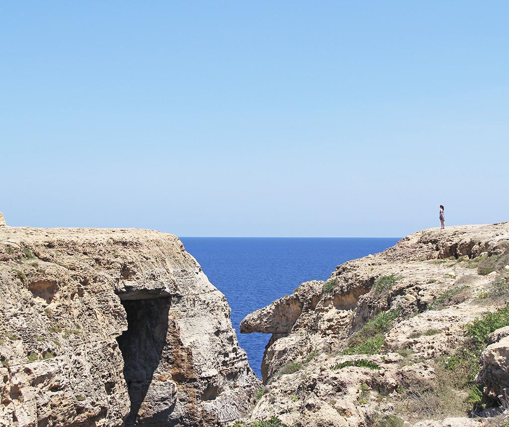 one week in gozo - postcards from malta - Wied il-Mielah Window
