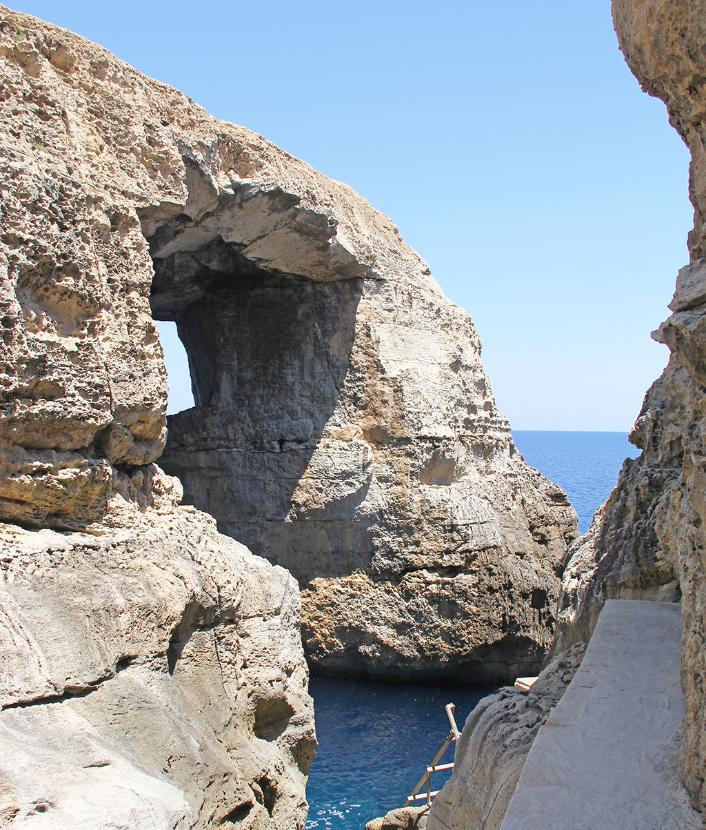 one week in gozo - postcards from malta - Wied il-Mielah Window 2